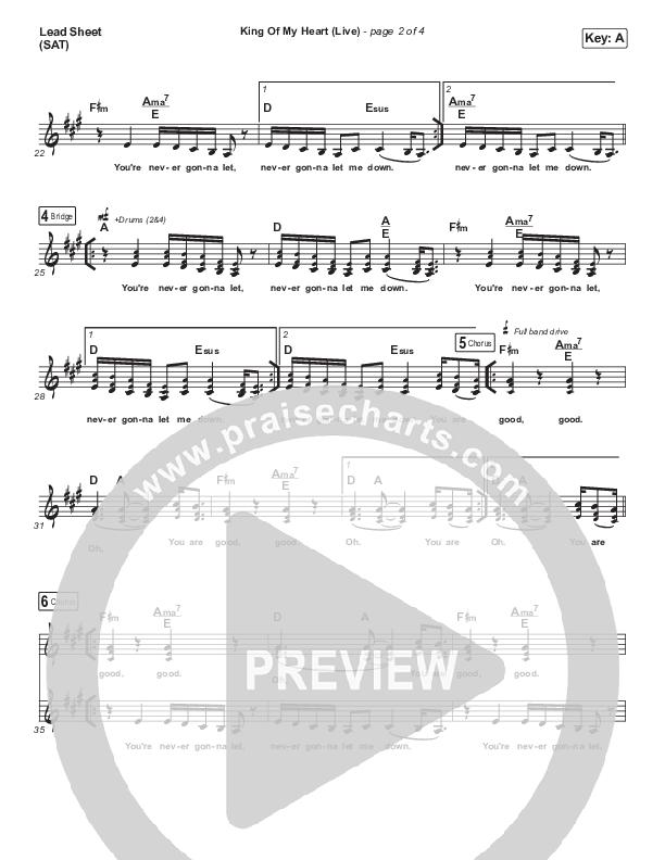 King Of My Heart (Live) Lead Sheet (SAT) (Sarah McMillan)