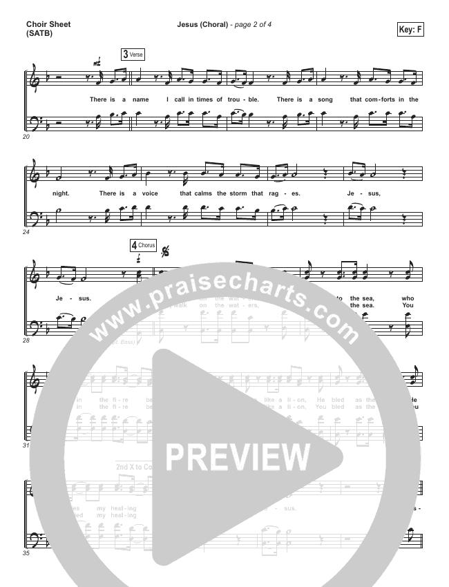 Jesus (Choral) Choir Sheet (SATB) (PraiseCharts Choral / Chris Tomlin)