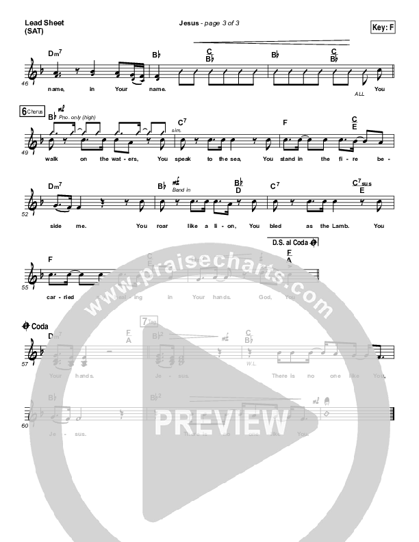 Jesus (Choral) Piano/Vocal Pack (Choral) (PraiseCharts Choral / Chris Tomlin / Arr. Luke Gambill)