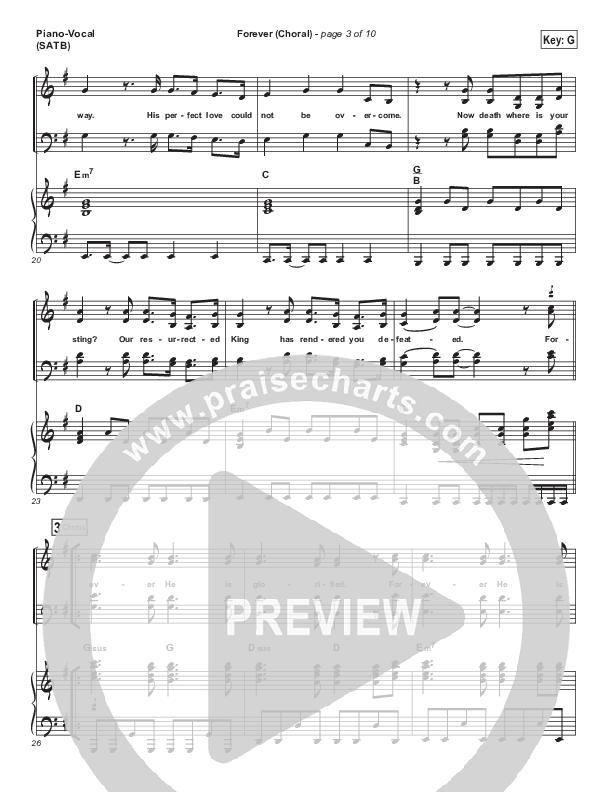 Forever (Choral) Piano/Vocal (SATB) (PraiseCharts Choral / Kari Jobe / Arr. Luke Gambill)