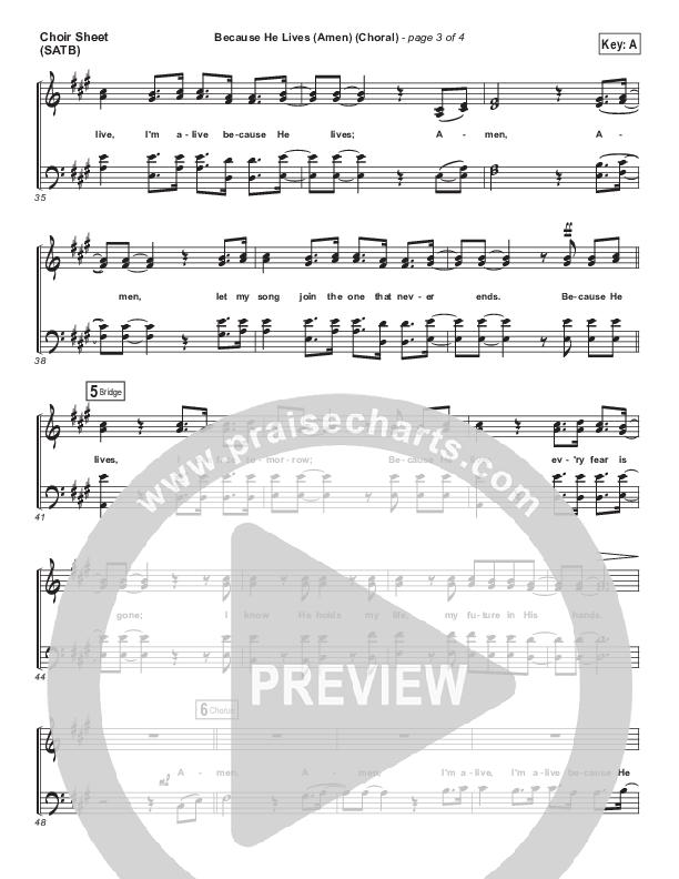 Because He Lives (Amen) (Choral) Choir Sheet (SATB) (PraiseCharts Choral / Matt Maher / Arr. Luke Gambill)