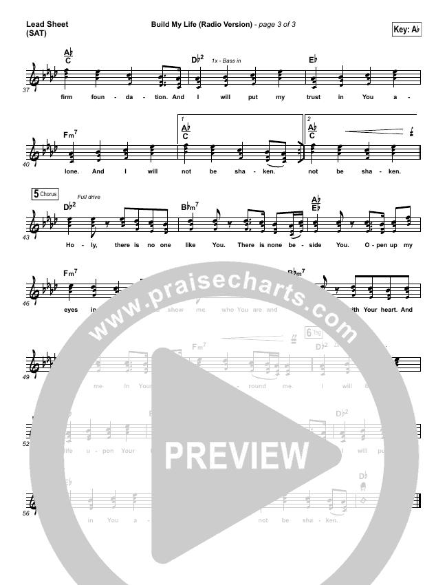Build My Life (Radio) Lead & Piano/Vocal (Pat Barrett)