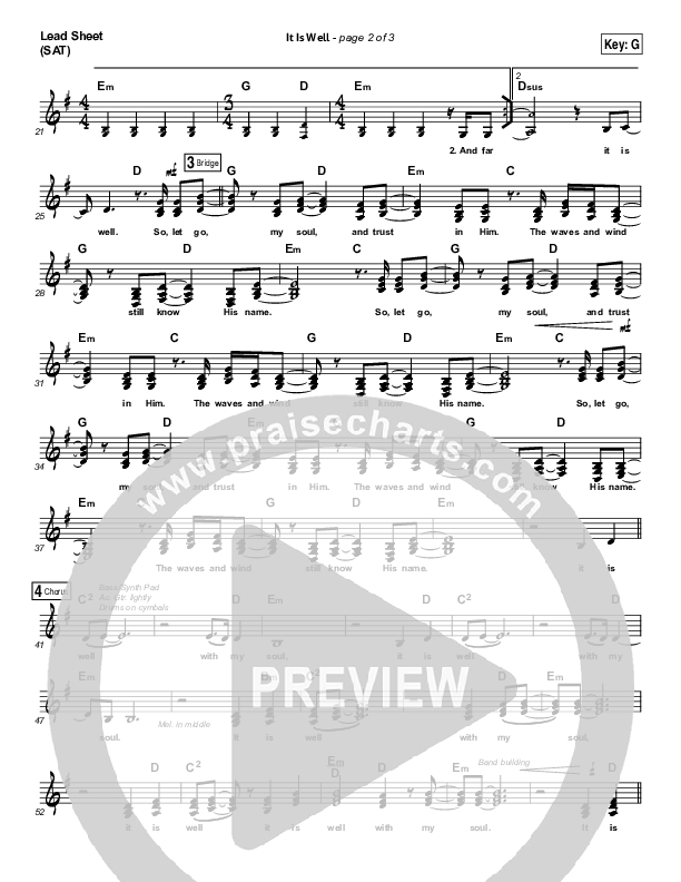 It Is Well (Choral) Lead & Piano/Vocal (PraiseCharts Choral / Kristene DiMarco / Arr. Luke Gambill)