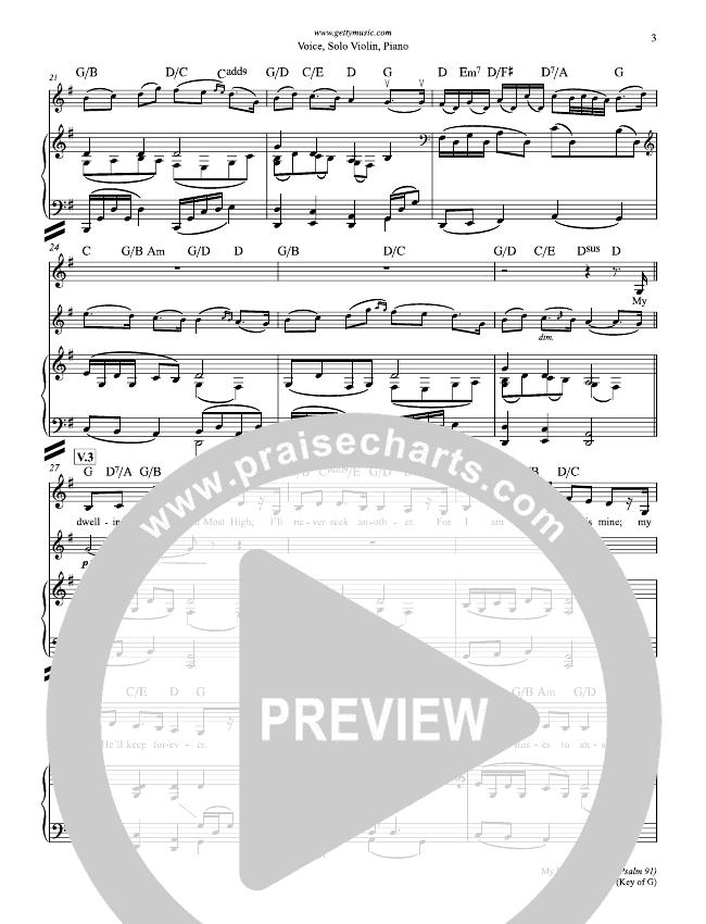 My Dwelling Place (Psalm 91) Lead & Piano (Keith & Kristyn Getty)