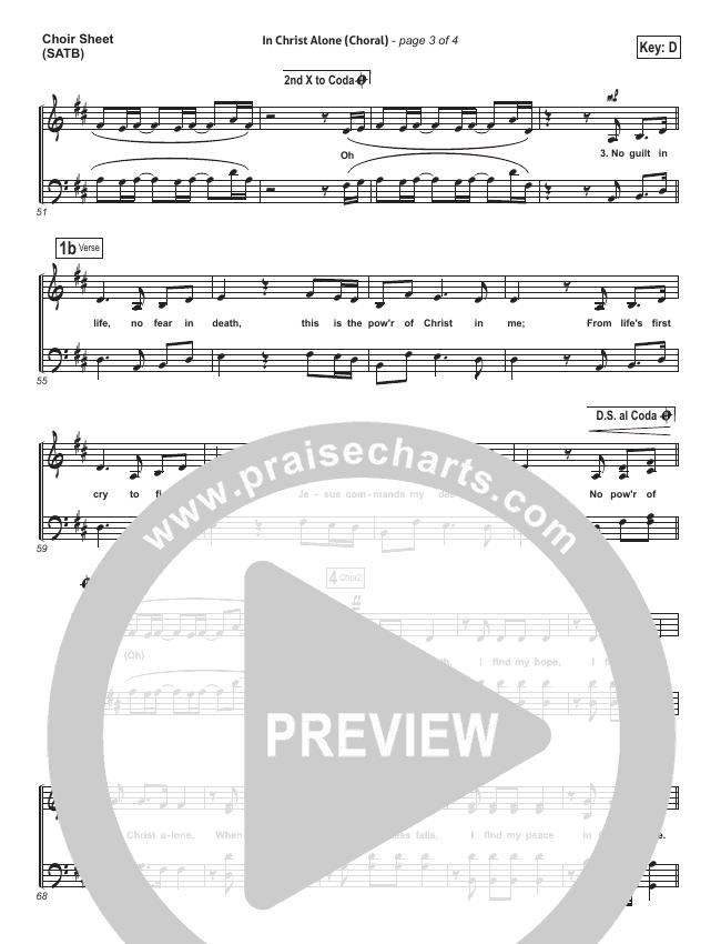 In Christ Alone (Choral) Choir Sheet (SATB) (PraiseCharts Choral / Kristian Stanfill / Passion)