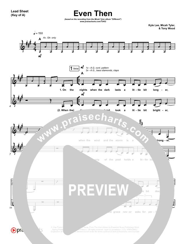 Even Then Lead Sheet (Melody) (Micah Tyler)