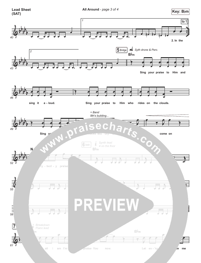 All Around Lead Sheet (SAT) (Planetshakers)
