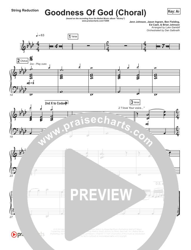 Goodness Of God (Choral) String Pack (PraiseCharts Choral / Bethel Music / Arr. Luke Gambill)