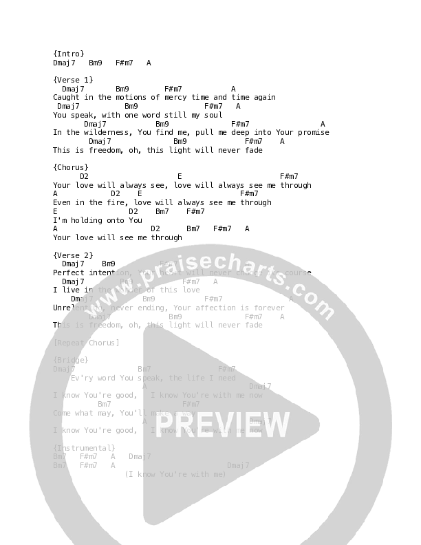 See Me Through Chord Chart (Luke + Anna Hellebronth)