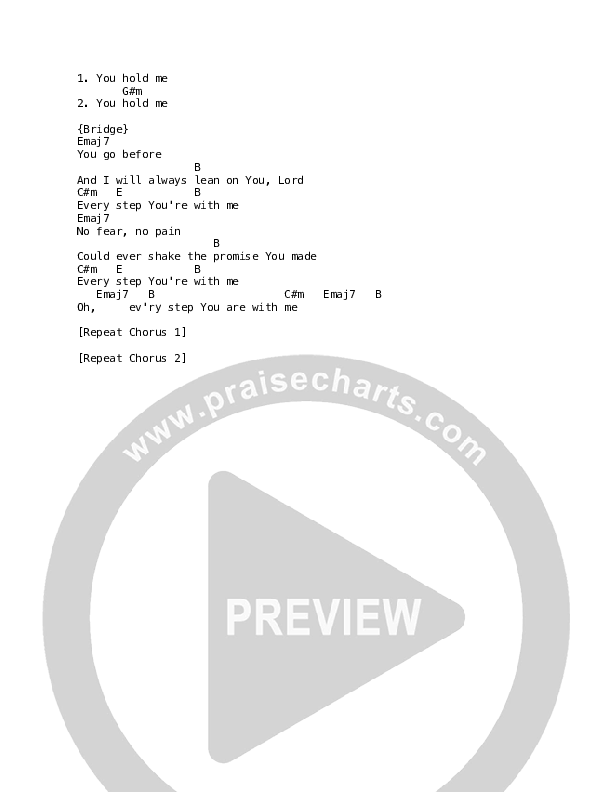 Carried By Your Grace Chord Chart (Luke + Anna Hellebronth)