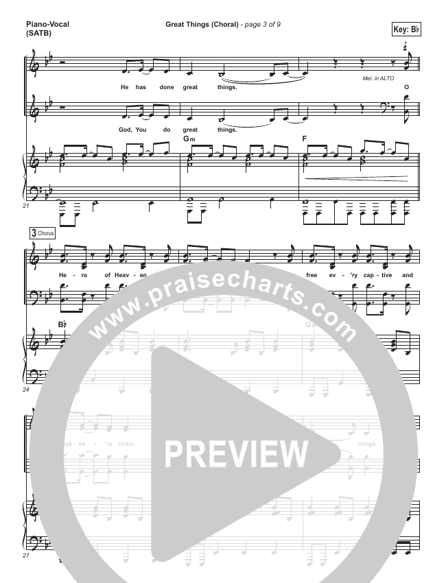 Great Things (Choral) Orchestration (PraiseCharts Choral / Phil Wickham / Arr. Luke Gambill)