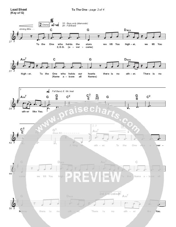 To The One Lead Sheet (Melody) (UPPERROOM / Meredith Mauldin / Oscar Gamboa / Beau Maddox)
