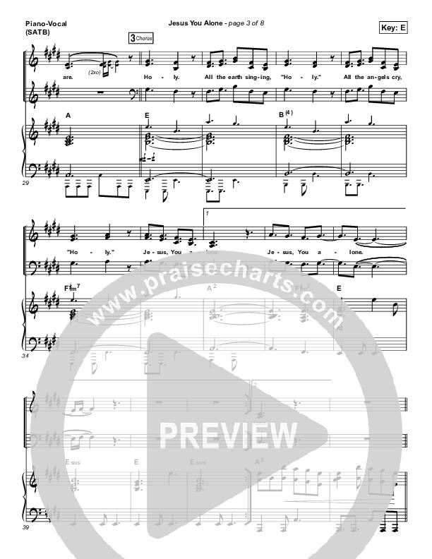 Jesus You Alone Piano/Vocal (SATB) (Highlands Worship)