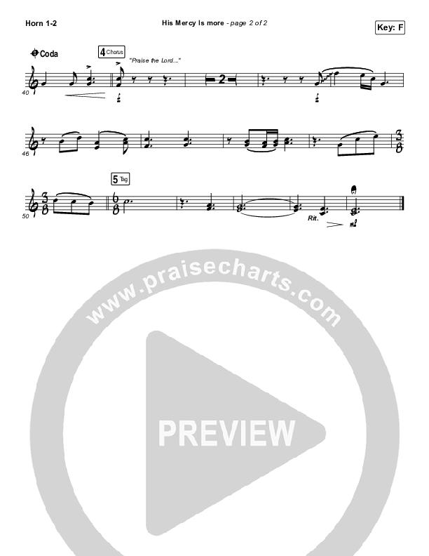 His Mercy Is More Brass Pack (Matt Papa / Matt Boswell / Keith & Kristyn Getty)