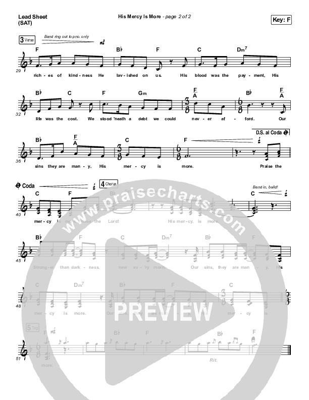 His Mercy Is More Lead & Piano/Vocal (Matt Papa / Matt Boswell / Keith & Kristyn Getty)