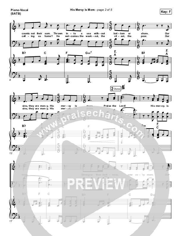 His Mercy Is More Piano/Vocal (SATB) (Matt Papa / Matt Boswell / Keith & Kristyn Getty)