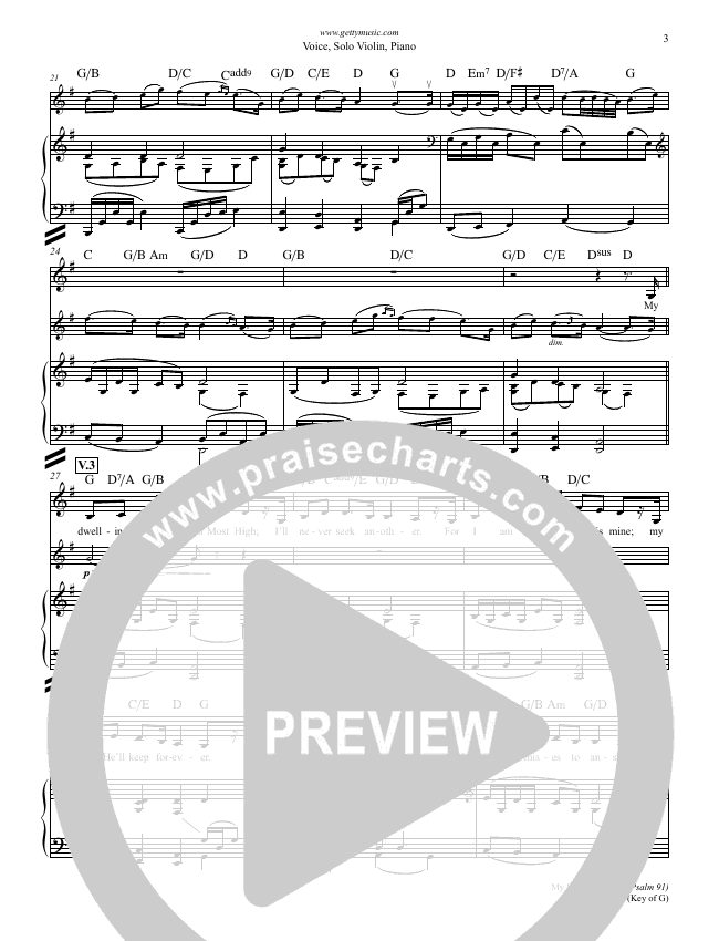 My Dwelling Place (Psalm 91) Lead & Piano (Phil Keaggy / Keith & Kristyn Getty)