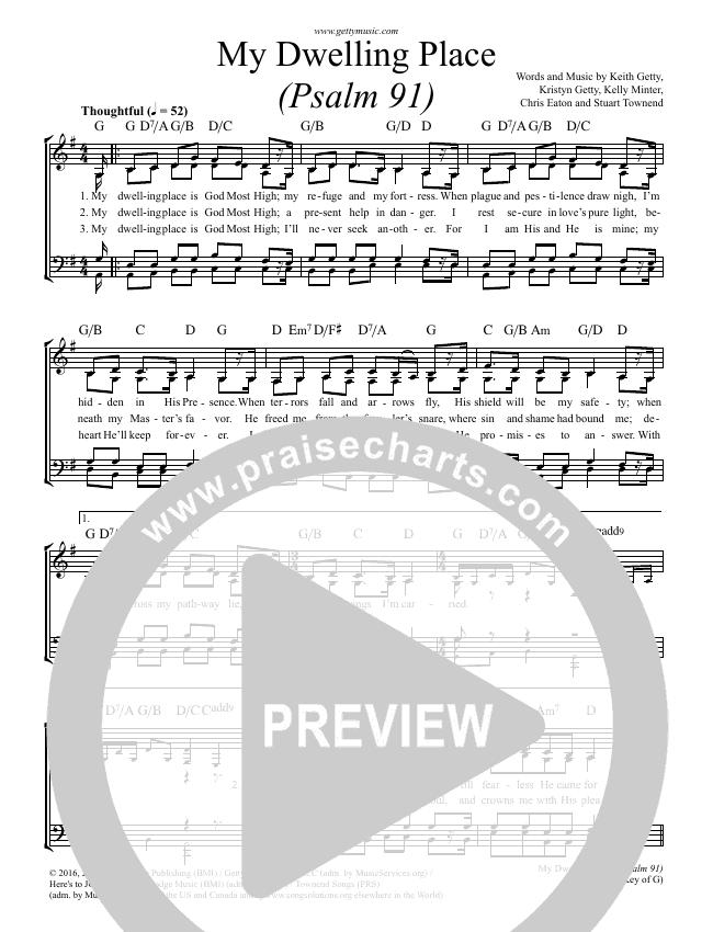 My Dwelling Place (Psalm 91) Choir Sheet (SATB) (Phil Keaggy / Keith & Kristyn Getty)