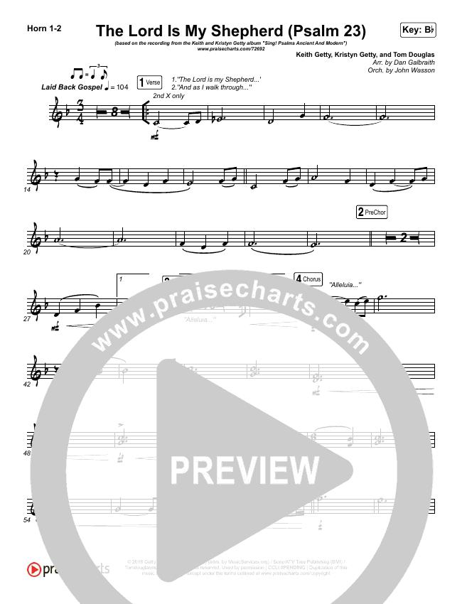 The Lord Is My Shepherd (Psalm 23) Brass Pack (Keith & Kristyn Getty)