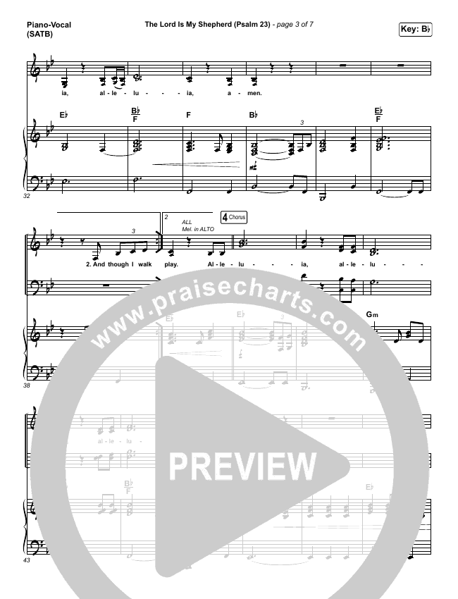 The Lord Is My Shepherd (Psalm 23) Piano/Vocal (SATB) (Keith & Kristyn Getty)