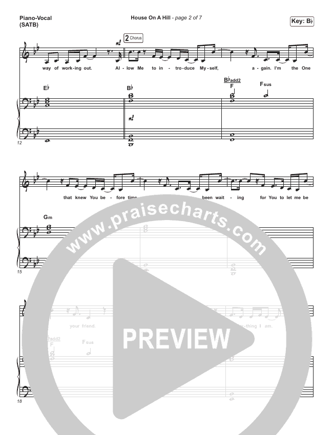 House On A Hill Piano/Vocal (SATB) (Amanda Lindsey Cook)