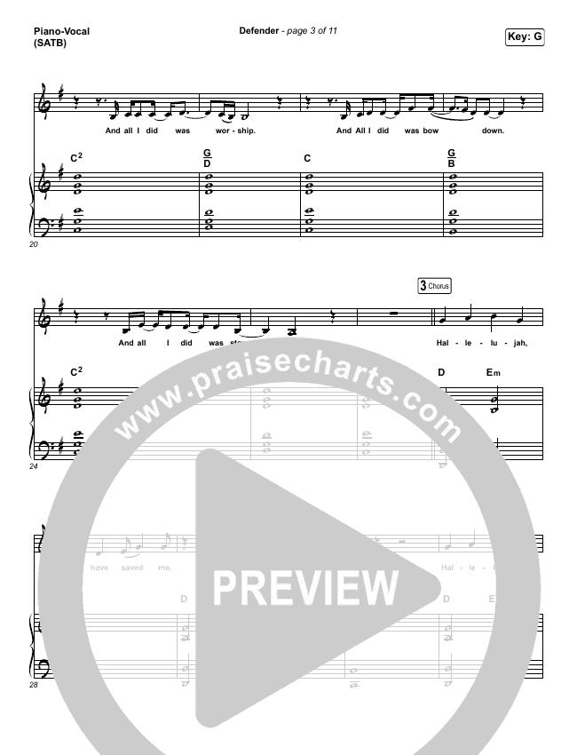 Defender (Live) Piano/Vocal (SATB) (UPPERROOM / Abbie Simmons)