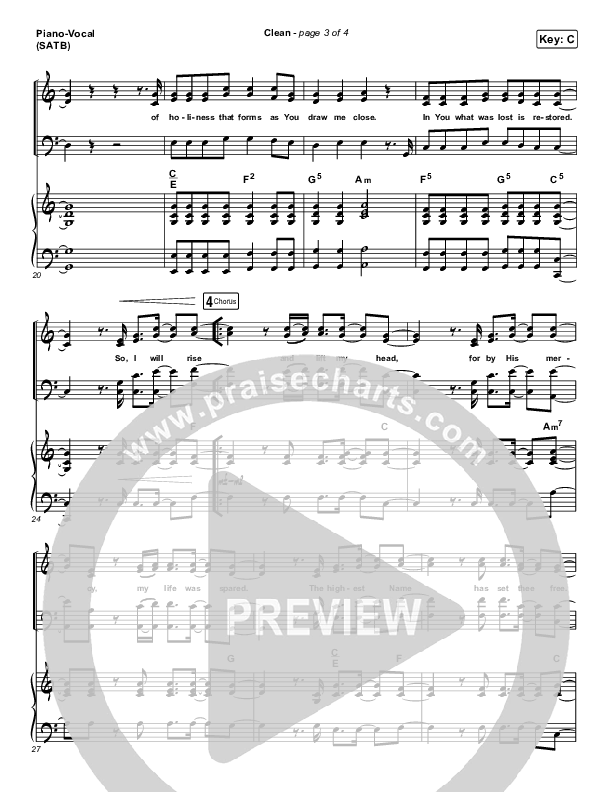 Clean Piano/Vocal (SATB) (Hillsong UNITED)