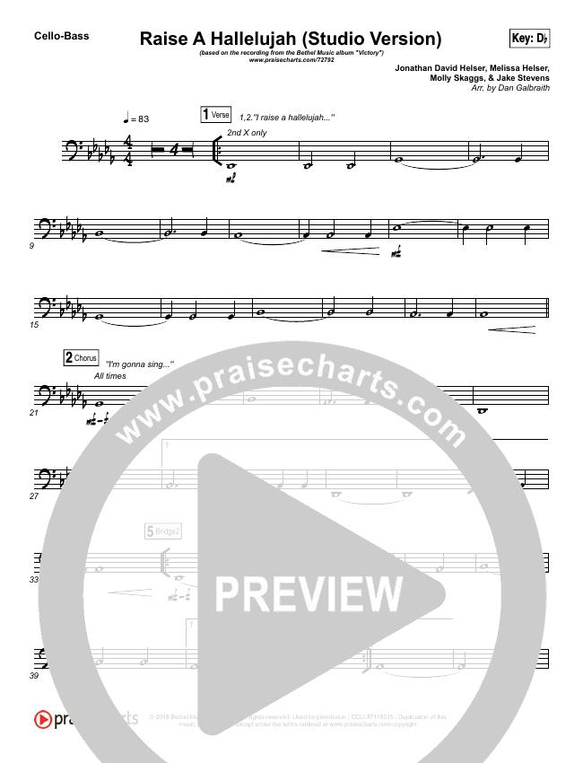 Raise A Hallelujah (Studio) String Pack (Bethel Music)