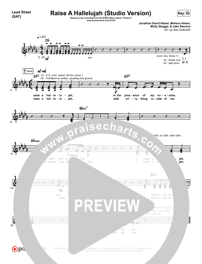 Raise A Hallelujah (Studio) Orchestration (with Vocals) (Bethel Music)