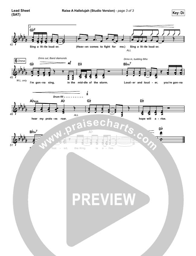 Raise A Hallelujah (Studio) Piano/Vocal Pack (Bethel Music)