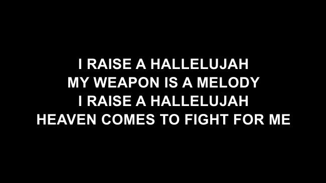 Raise A Hallelujah (Studio) Lyric Slides (Bethel Music)