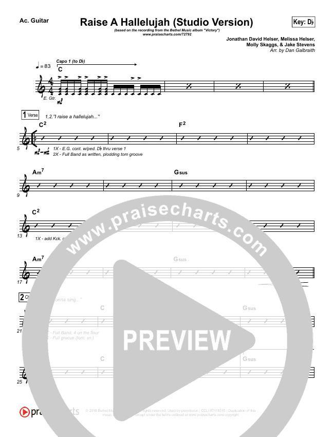 Raise A Hallelujah (Studio) Rhythm Chart (Bethel Music)