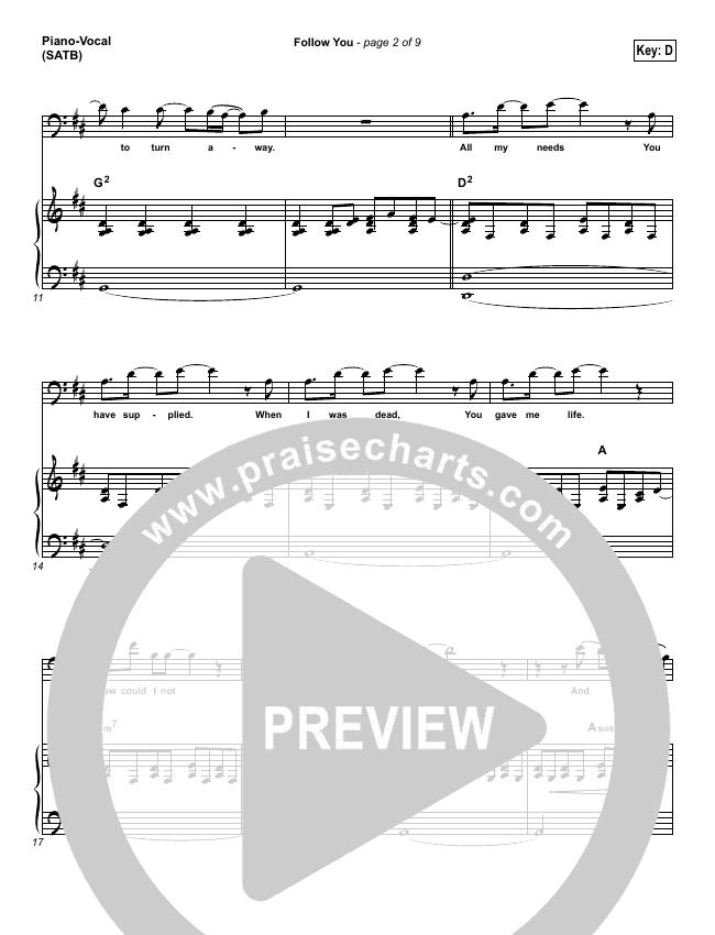 Follow You Piano/Vocal (SATB) (Leeland)