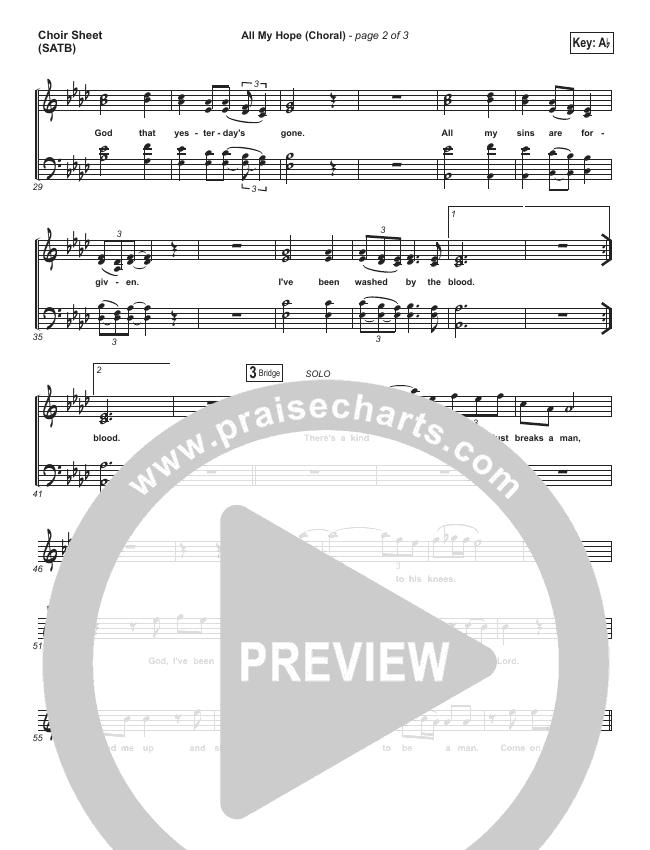 All My Hope (Choral) Choir Sheet (SATB) (Crowder / PraiseCharts Choral)