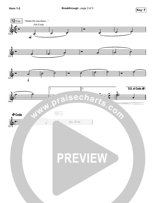 Breakthrough (Live) Brass Pack (Red Rocks Worship)