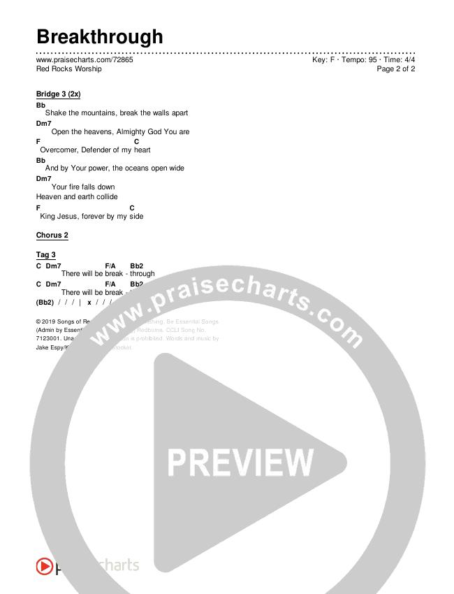 Breakthrough (Live) Chords & Lyrics (Red Rocks Worship)