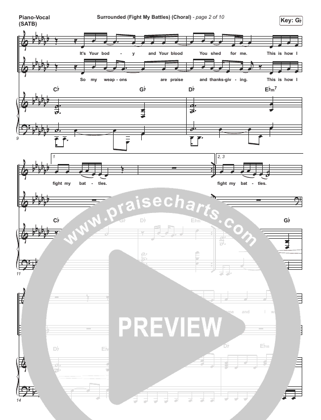 Surrounded (Fight My Battles) (Choral) Orchestration (PraiseCharts Choral / Elyssa Smith / UPPERROOM / Arr. Luke Gambill)