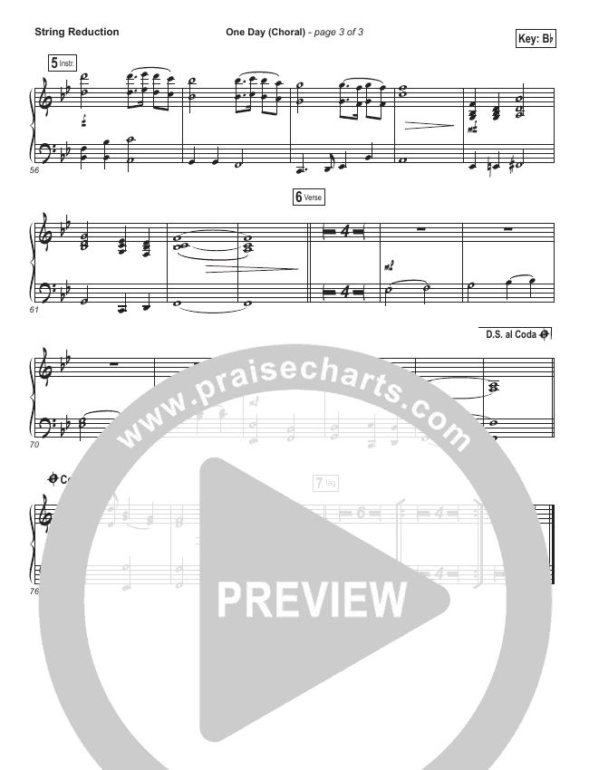 One Day (When We All Get To Heaven) (Choral) String Pack (PraiseCharts Choral / Matt Redman / Arr. Luke Gambill)