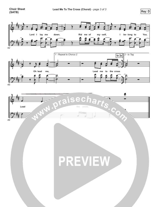Lead Me To The Cross (Choral) Choir Sheet (SATB) (PraiseCharts Choral / Hillsong UNITED)