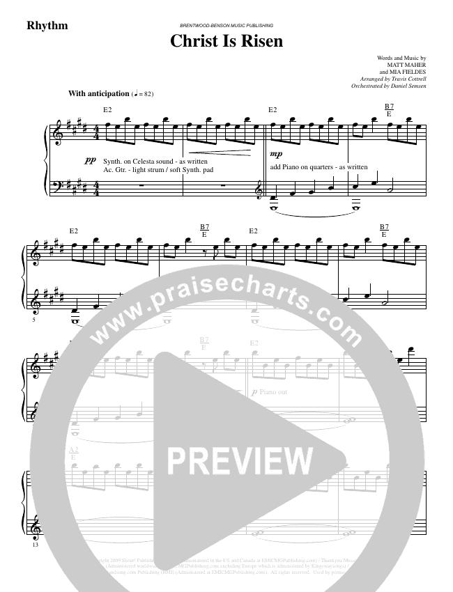 Christ Is Risen (Choral) Orchestration (Brentwood-Benson Choral / Arr. Travis Cottrell, Daniel Semsen)