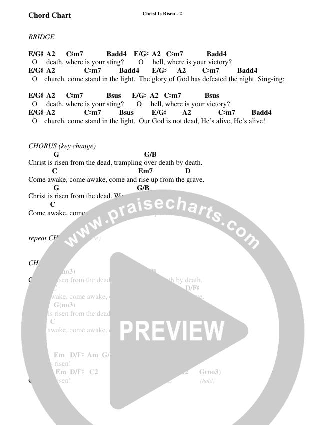 Christ Is Risen (Choral) Chord Chart (Brentwood-Benson Choral / Arr. Travis Cottrell, Daniel Semsen)
