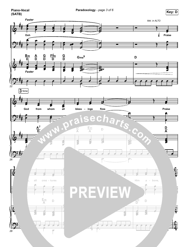 Paradoxology Piano/Vocal (SATB) (Elevation Worship)