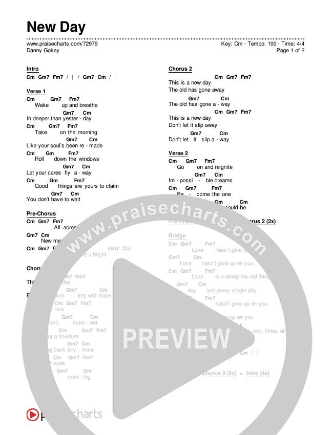 New Day Chords & Lyrics (Danny Gokey)