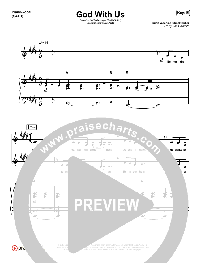 God With Us Piano/Vocal (SATB) (Terrian)