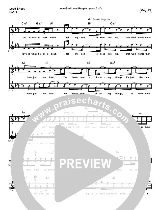 Love God Love People Orchestration & Finale (Danny Gokey / Michael W. Smith)