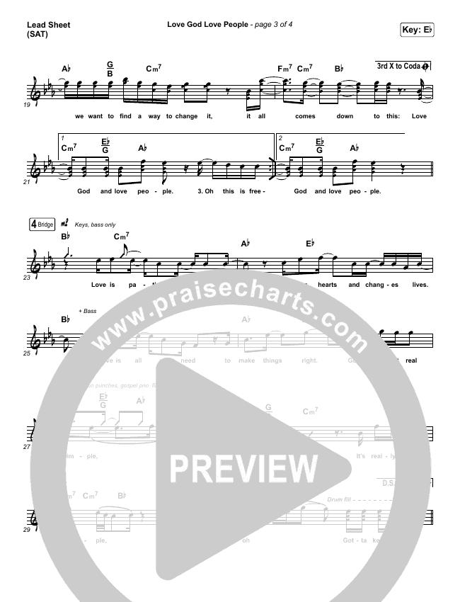 Love God Love People Lead & Piano/Vocal (Danny Gokey / Michael W. Smith)