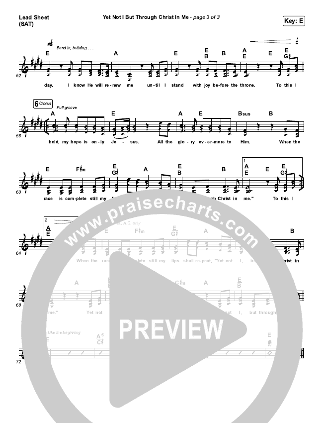 Yet Not I But Through Christ In Me Piano/Vocal (SATB) (CityAlight)