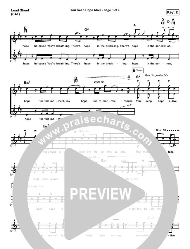 You Keep Hope Alive Piano/Vocal Pack (Jon Reddick)