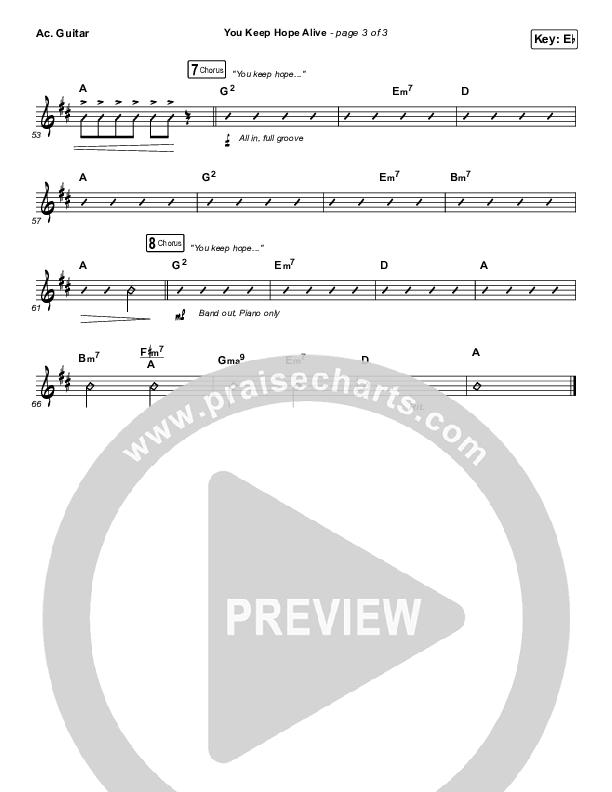 You Keep Hope Alive Acoustic Guitar (Jon Reddick)