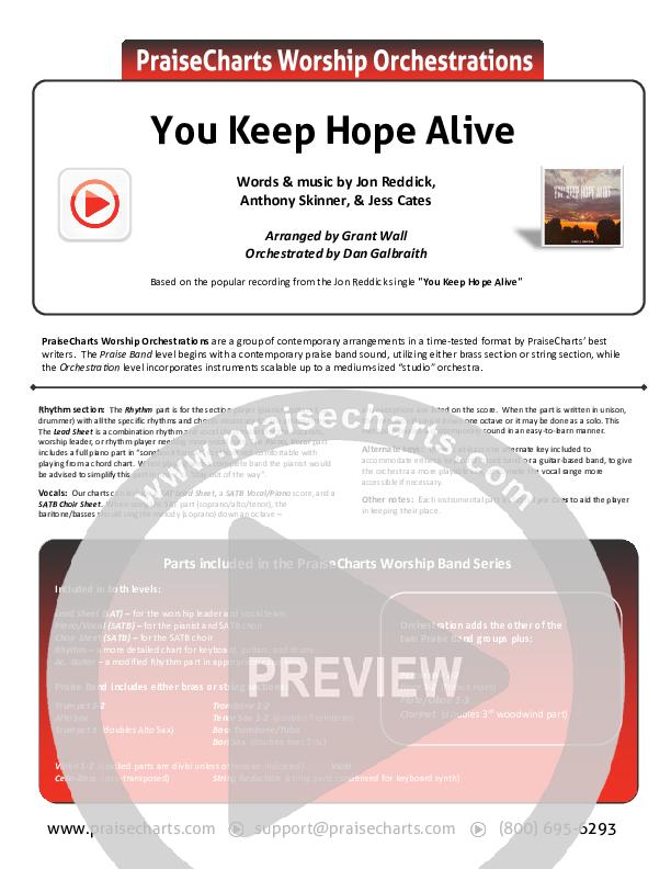 You Keep Hope Alive Orchestration (Jon Reddick)